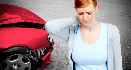 Woman in Pain After an Auto Accident